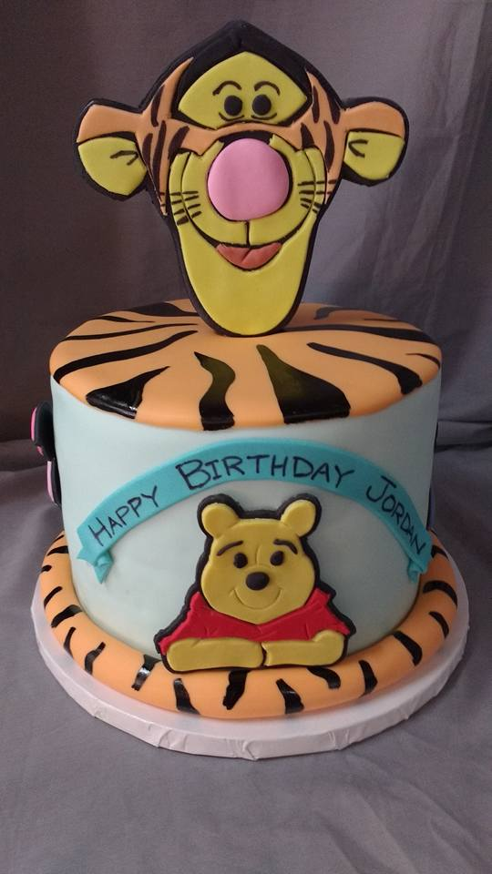 Tigger  (and friends) themed custom cake